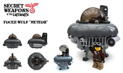 Secret Weapons of the Luftwaffe: Meteor (2 Much Caffeine) Tags: lego nazi ufo ww2 moc luftwaffe flyingdisc secretweapon dieselpunk