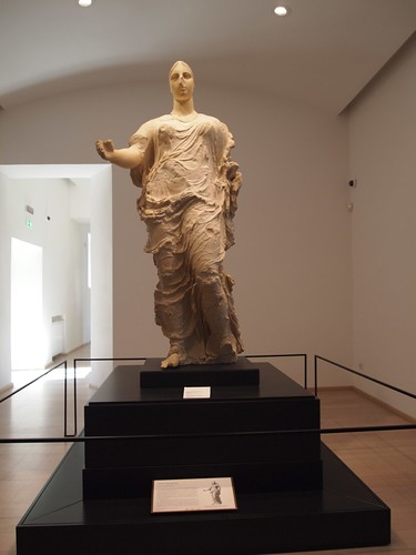 Getty Aphrodite statue in its new place of honor in Aidone at the Morgantina museum