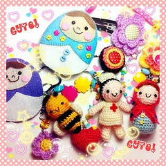 I love Kawaii! (Jaravee) Tags: cute keychain handmade crochet kawaii amigurumi