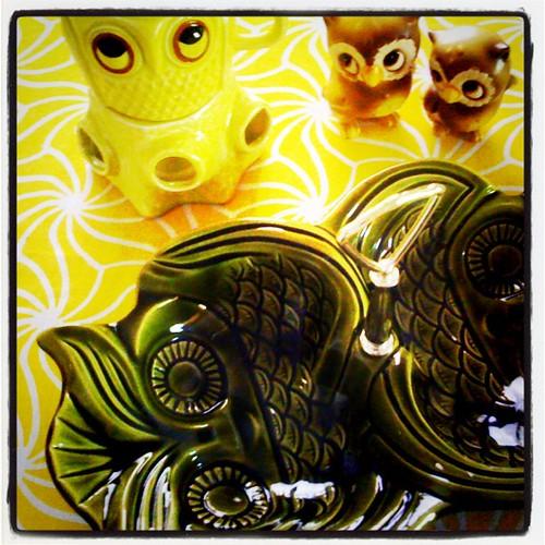 Sac Antique Faire Loot: Owls Galore