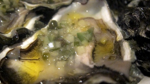 oysters with meuniere sauce at one eared stag