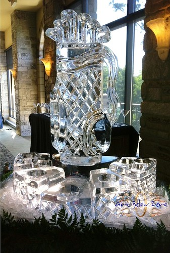 Golf Bag Vodka Chiller Caviar Station Ice Sculpture