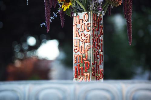fancy font vase 4