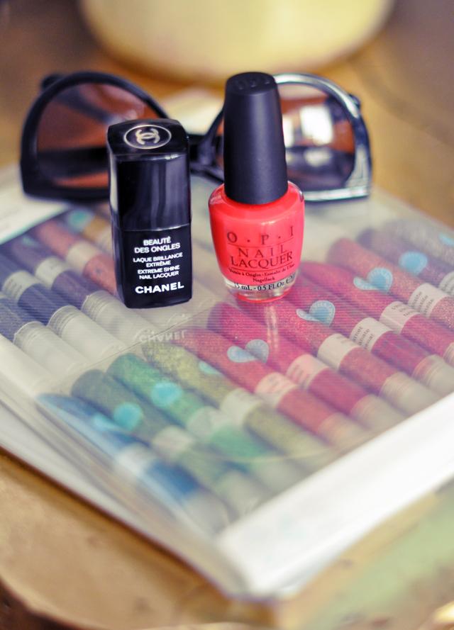 OPI nail polish-Chanel  nails laque brilliance-martha stewart glitter glue