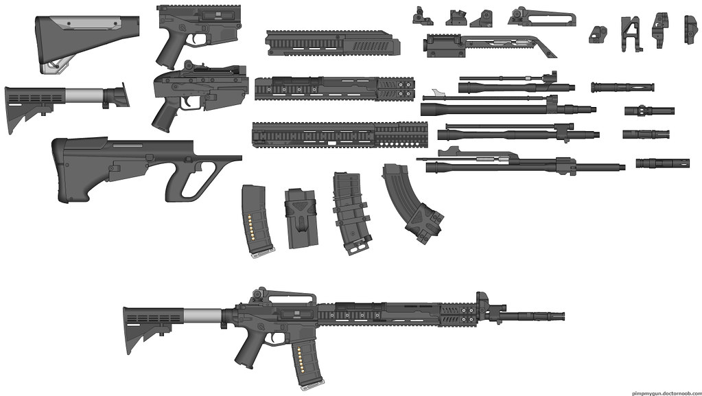 the zone games basic weapon set