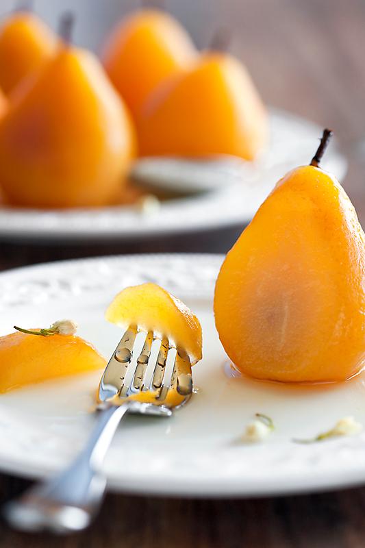 Jasmine Tea Poached Pears