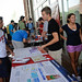 Incoming Engineering students gathered information at the welcome back event.