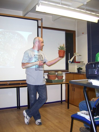 BCSS BB August - Ariocarpus talk - Mark and his Leuchtenbergia principis