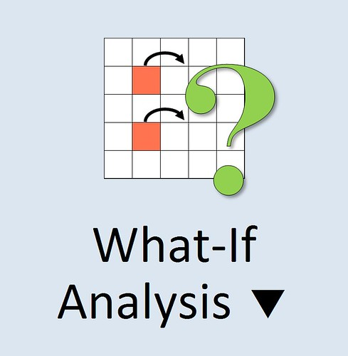 MS Excel 2010 ~ What-If Analysis Icon