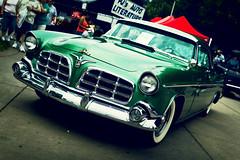 Imperial (Garret Voight) Tags: show street old hot green classic car minnesota vintage fairgrounds whitewalls automobile bokeh retro chrome american imperial rod chrysler saintpaul backtothe50s