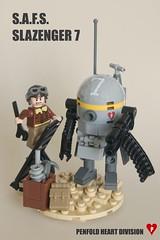 MaK: SAFS Slazenger 7 (ted @ndes) Tags: ball golf lego 7 system suit round minifig fighting vignette armored mecha krieger moc mercenary 8x8 maschinen hardsuit safs slazenger dieselpunk