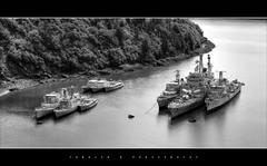 Landévennec - Cimetière de bateaux B&W (daad-art) Tags: colbert landévennec cimetièredebateaux croiseur c611