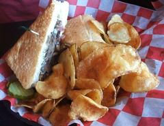 Beef & portabella sandwich