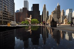Marilyn Monroe in the Windy City (Seth Oliver Photographic Art) Tags: chicago buildings reflections iso200 illinois nikon midwest skyscrapers cities cityscapes michiganavenue pioneercourt pinoy downtownchicago cookcounty chicagoskyline urbanscapes secondcity magnificentmile windycity magmile chicagoist d90 cityofchicago cityofbigshoulders sooc creativeshots chicagolandmarks aperturef71 autowb marilynmonroestatue manualmodeexposure setholiver1 circularpolarizers 0006secondexposure 1024mmtamronuwalens minorcropforcomp