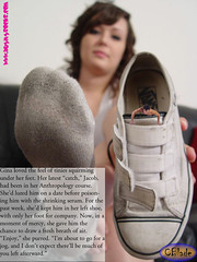 EvilGirl05 (gtsblade) Tags: feet socks foot sock squish crush giantess gts shrink shrunkenman