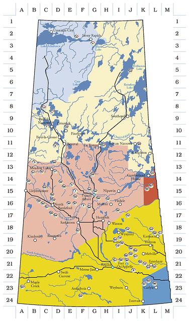 Saskatchewan First Nations Map
