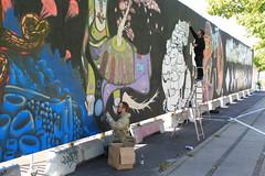 Billede 039 (Paradiso's) Tags: art wall copenhagen graffiti market kunst flea paradiso kbenhavn muur kunstwerk vlooienmarkt plads rommelmarkt valby loppemarked vg artinthemaking kunstevent toftegrds kulturhusvalby
