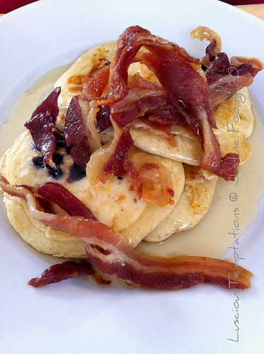 Pancakes with Bacon and Maple Syrup - Lido, Brockwell Park