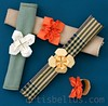 Wildflower, Bluet And Tropical Flower Napkin Rings