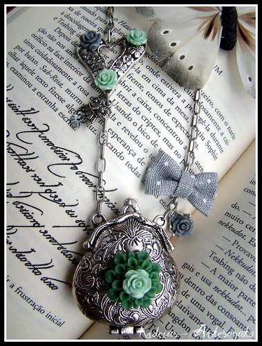 """Colar..."""" Silver vintage purse"""" by kideias - Artesanato"""