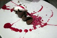 NYC - LES: wd~50 - Soft chocolate, beet, long pepper, ricotta ice cream (wallyg) Tags: nyc newyorkcity ny newyork les dessert restaurant chocolate manhattan lowereastside foodporn icecream gothamist beet eater wd50 chocolateganache wd~50 softchocolate ricottaicecream