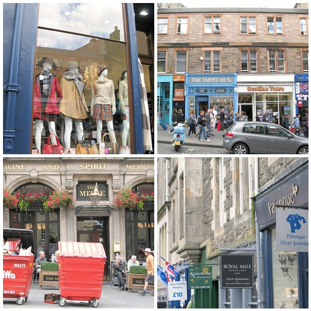 Tourist attractions on the High Street, Royal Mile, Edinburgh. | Emma Lamb