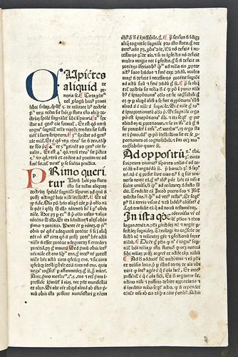 Manuscript initials in Duns Scotus, Johannes: Quaestiones in librum I. Sententiarum