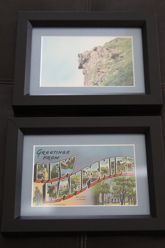 Vintage NH Postcards framed by RSP Studio in Dover, NH