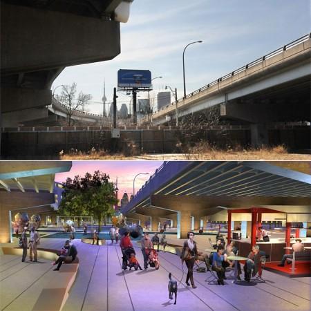 Toronto-UnderpassPark-FuenteWaterfrontToronto
