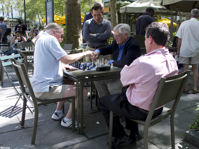 Speed Chess, Bryant Park