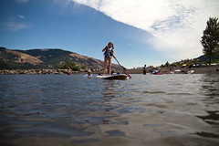 paddle-boarding on the Columbia River (Mr. Biggs) Tags: travel vacation water oregon columbia biggs hoodriver paddlesurf mrbiggs