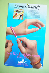 vintage craft : bracelet instructions (wildolive) Tags: vintage friendship craft bracelet instructions dmc floss
