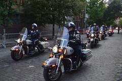 NYPD motorcade (SpecialKRB) Tags: nyc newyorkcity dinner manhattan nypd security motorcycle gothamist greenwichvillage motorcade presidentobama