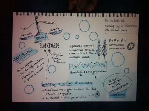 #uxaustralia #sketchnote of Martin Tomitsch's Weaving Digital Information into Physical Space