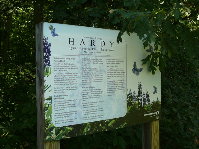 Hardy Dam Rustic Nature Trail sign