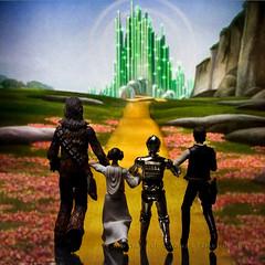 237/365 Alternative | Follow the Yellow Brick Road (egerbver) Tags: road reflection brick green yellow toy toys actionfigure princess solo princessleia actionfigures 365 wizardofoz han chewbacca leia c3po hasbro yellowbrickroad handsolo emraldcity davideger 365daysofclones