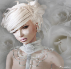 White Roses (Ruriko Bracken) Tags: face fashion sl plume leezu
