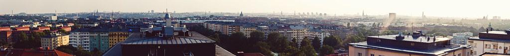 panorama från ett tak