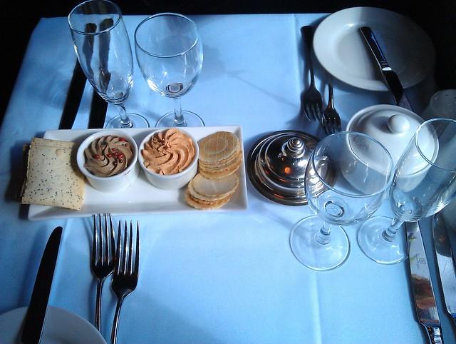 Restaurant tram appetiser