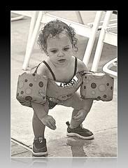 Not gonna sink! (Calsurferboy) Tags: baby water pool sink provincetown capecod ptown floaties familyweek 2011