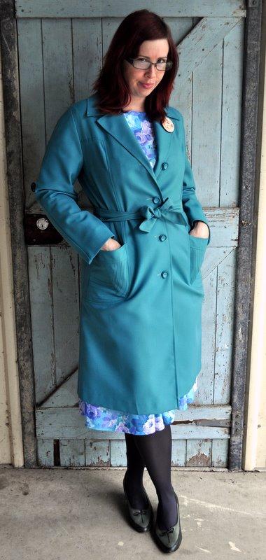 Vintage Teal Coat
