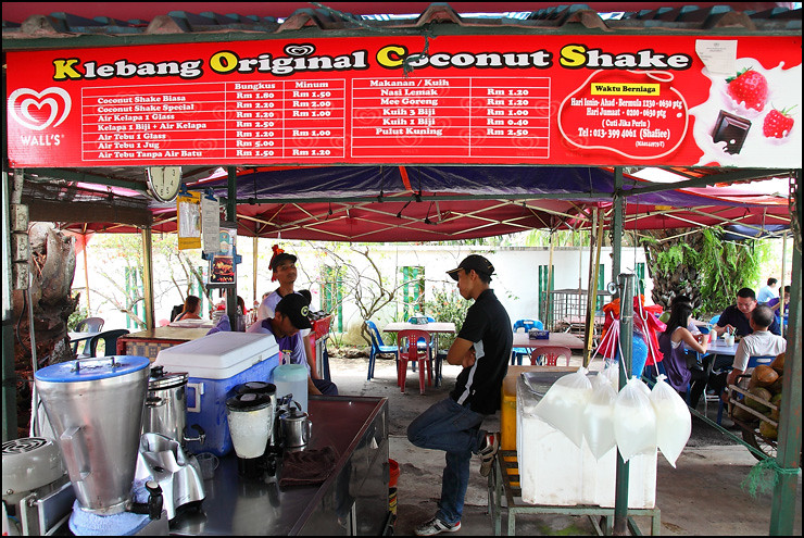 Melaka Food klebang-coconut-shake