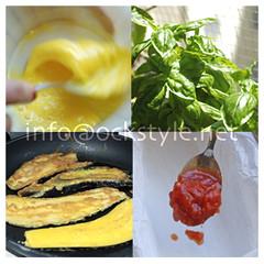 Eggplant Parmigiana Prep Collage N.2