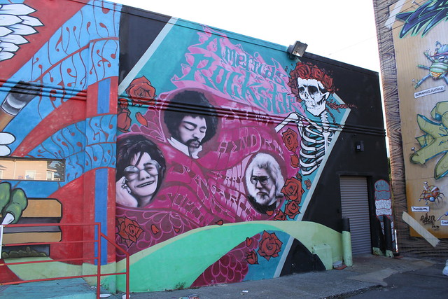 Painted wall in Haight-Ashbury