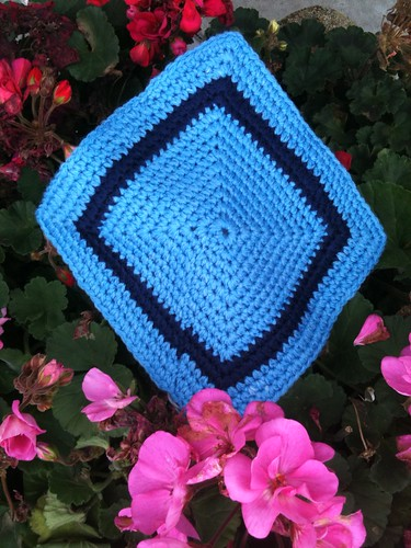 This Square is for the 'Two Tone' Blue. Unfortunately, I have 25 Squares for this particular Blanket now, but I will use in future Blankets.