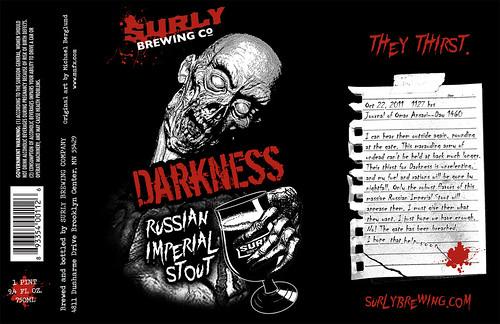 Surly Darkness 2011 label