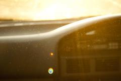 (lee-may [ old acc ]) Tags: school sunset orange sun car rainbow warm auction flare abigail dust nikond60
