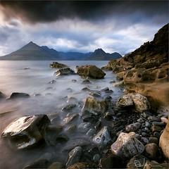 Elgol Storm (David Hannah) Tags: sea mountains skye beach wet weather scotland highlands rocks wind bou