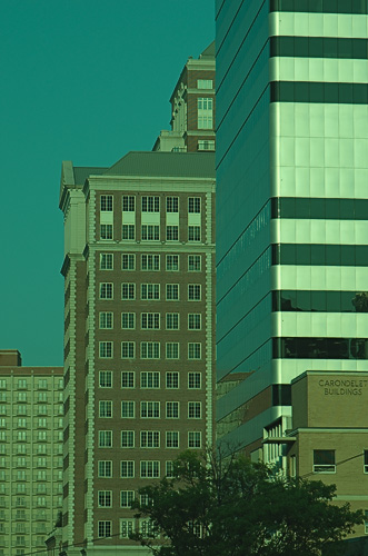 Buildings in Clayton, camera native white balance
