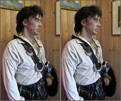 Balliolman_Jacobite_X (Balliolman) Tags: 3d perfect kilt highlander stereo scot tartan crossed claymore 1745 jacobite crossbelt
